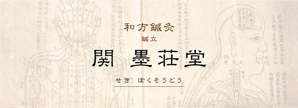 関 墨荘堂 鍼灸治療院 鍼立 和方鍼灸 東京 麻布十番